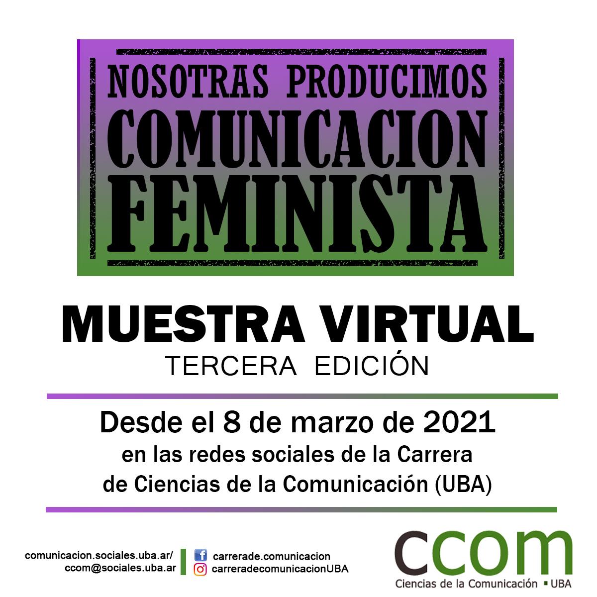Muestra virtual de comunicación feminista